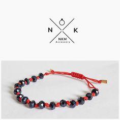 "ɴᴋᴍ ᴀᴄᴄᴇssᴏʀʏ (@nkmaccessory) στο Instagram: ""Βραχιόλι με γυάλινα κρύσταλλα #accessories #jewelrydesign #jewellerylover #beautiful #bracelet…"""