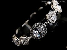 Wedding Bracelet Bridal Bracelet White Clear by MyTinyStarShining, $64.99