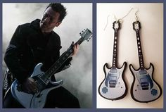 Rammstein richard z kruspe earrings guitar inspired by nikajon