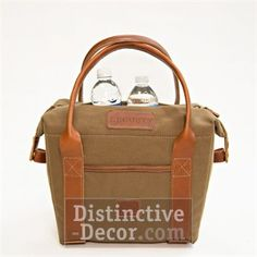 White Wing Canvas & Leather Cooler (Tan)