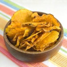 Raw Sweet Potato Chips by omnomally