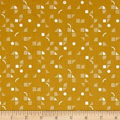 Kaufman Panache Geo Yarrow from Designed by Rebecca Bryan for Robert Kaufman, this cotton print fabric features abstract designs and is perfect for quilting, apparel and home decor accents. Colors include gold and white. Accent Decor, Printing On Fabric, Abstract Designs, Robert Kaufman, Quilts, Sewing, Geo, Men Fashion, Artwork