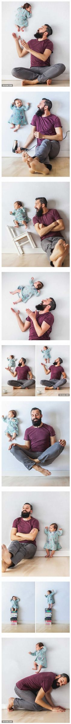 Dad takes fun pictures with one-month-old daughter(Diy Photo Shoot) Foto Newborn, Newborn Baby Photos, Newborn Pictures, Baby Boy Newborn, Baby Pictures, Cute Pictures, Dad Baby, Baby Love, Newborn Baby Photography
