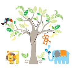 Jungle Land wall sticker from cocooncouture.com