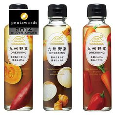 PENTAWARDS-2014-089-EIGHT-KYUSHU-KITCHEN九州野菜ドレッシング – Eight Branding Design