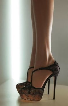 New Women's Clothing Styles & Fashions: valentino black lace shoes: Love these shoes!
