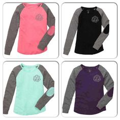 Preppy Patch Long Sleeve Monogram Shirt ~ Long Sleeve Monogrammed Shirt ~ Super Cute and Comfy ~ Great Gift Idea ~ Valentine's Day