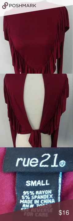 Rue 21 Women's Top Size S Wine Color Rue 21 Women's Top Size S Wine Color Very soft  In Excellent condition  Thank you so much for looking! Have a fantastic day! 21 Women's Top Size S Wine Color Very soft  In Excellent condition  Thank you so much for looking! Have a fantastic day! Rue21 Tops