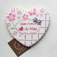Biscoito Decorado Cookie Cartão Dia das mães