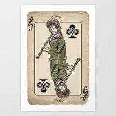 musical poker / Baroque oboe