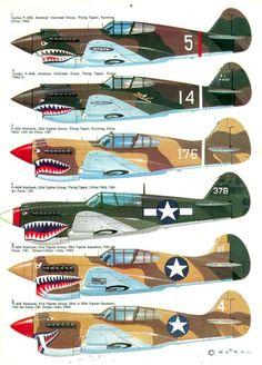 P-40 models  Shark mouths
