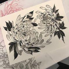 Irezumi Tattoos, Hannya Tattoo, Kunst Tattoos, Tattoo Drawings, Japanese Flower Tattoo, Japanese Sleeve Tattoos, Japanese Flowers, Japanese Lotus, Floral Tattoo Design