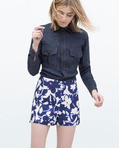 PRINTED SHORTS-Shorts-WOMAN   ZARA United States