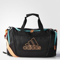 adidas Defender 2 Duffel Bag Small ($35) found on Polyvore featuring bags, handbags, logo duffle bags, duffle bag, duffel bags, adidas and adidas purse
