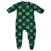 #NFLShop.com - #NFLShop.com Green Bay Packers Infant Piped Raglan Full Zip Coverall - Green - AdoreWe.com