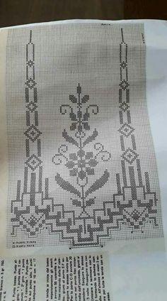 Kanaviçe Ribbon Embroidery, Cross Stitch Embroidery, Knitting Patterns Free, Crochet Patterns, Swedish Weaving Patterns, Fillet Crochet, Crochet Art, Knitting Yarn, Needlework