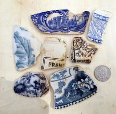 Pottery Shards from the Thames affectionately known as mud larking good fun it is too.