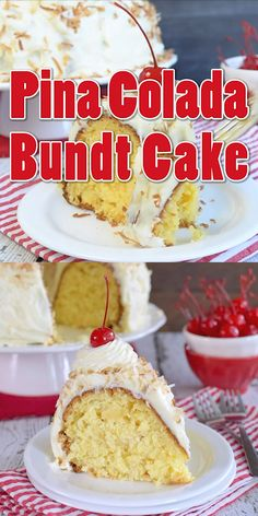 Pineapple and coconut add a fun summer twist to this easy Pina Colada Bundt Cake. More from my sitePina Colada Bundt CakePina Colada Bundt CakeGiant Twinkie Bundt Cake Pound Cake Recipes, Easy Cake Recipes, Baking Recipes, Dessert Recipes, Healthy Recipes, Cheesecake Recipes, Summer Cake Recipes, Easy Summer Desserts, Homemade Cheesecake