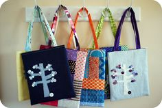 Cute little bags by Sarah at Hip To Piece Squares!