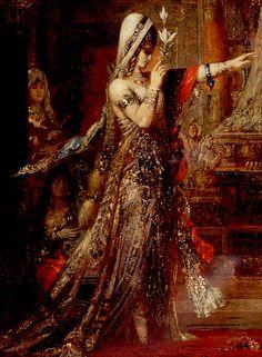 Detail of Salome Dancing Before Herod, Gustave Moreau (1876).