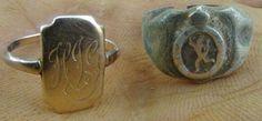 Rings from lake metal detecting