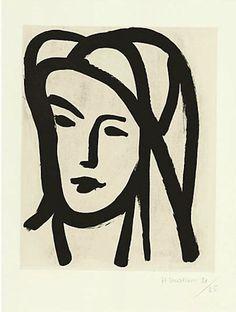 Henri Matisse, Bedouine au grand voile, aquatint, 1947, on annam appliqué to wove paper.