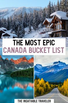 canada travel This is the most epic Canada bucket list! Unforgettable views in the most beautiful places in Canada. Theyll stop you in your tracks, put a smile on your face, or simply make you gasp with wonder. Beautiful places in Canada Cool Places To Visit, Places To Travel, Places To Go, Canada Destinations, Amazing Destinations, Best Vacation Destinations, Visit Canada, Canada Canada, Road Trip Canada