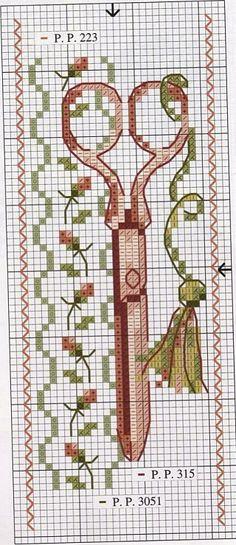 ciseaux PATRONES/MOLDES - PUNTO DE CRUZ.  COSTURA: KIT DE CASA _0031