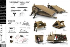 Bamboo Cell Structure - Bing Images Mobile Architecture, Bamboo Architecture, Architecture Design, Bamboo Roof, Bamboo House, Bamboo Structure, Cell Structure, Bamboo Building, Portable Shelter
