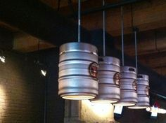 32 Things You Need In Your Man Cave...romantic keg lighting #Man #Cave #Garage