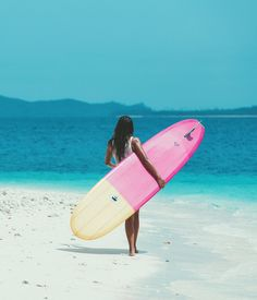 Bright boards paired with crystal clear waters.