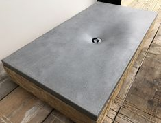 For sale and ready to ship. Hand made by Concrete Tuesdays. Polished concrete designer fabric fluid form sink