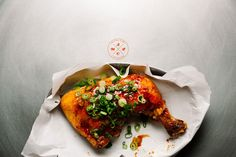 Sriracha Honey Lime Chicken Recipe with pepper, salt, chicken thighs, lime, honey, Sriracha, sliced green onions
