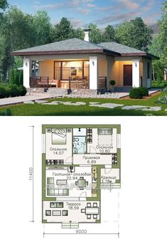 Clement Dismas's media content and analytics House Layout Plans, Dream House Plans, Small House Plans, House Layouts, House Floor Plans, Modern Small House Design, Simple House Design, Modern Bungalow House, Bungalow House Plans