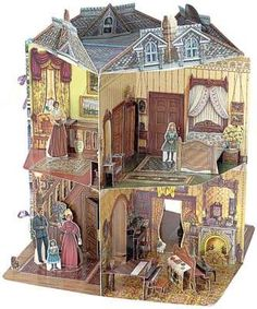 Doll House Book (Three-Dimensional Victorian Doll House by Willabel L. Tong (Hardcover). I used to have one of these books, and it was absolutely AWSOME. I'm not sure it was this exact model, but it was similar. You could open the doors and some shelves that would reveal the next room or other illustrations. The paper dolls and the house in general was very detailed. You could close the book and take it anywhere which was also very handy. I have very fond memories with this book.