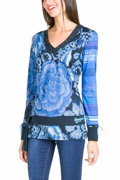 58T24P2_5011 Desigual T-Shirt Elvi Blue, Canada