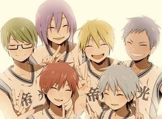 #Kurokonobasuke #anime #kuroko #kise #aomine #akashi #midorima #murasakibara #kisekinosedai