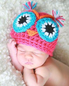 ESTEFANIA THE  OWL handmade crochet Hat / Beanie   by NattyHatty, $20.99