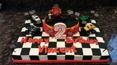 Blaze second birthday cake.