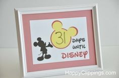 Print your own countdown to Disney calendar!