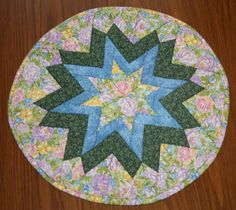 Table Topper, Soft Roses, Round Table Topper, Quilted Table Topper, Handmade Table Topper, Table Decor, Table Centerpeice