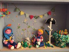 Mis micro mundos de plastilina, la habitación de Simón y Adrián 2