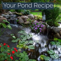 If you have a balanced ecosystem, you'll find it much easier to maintain the health of your pond, fish, and plants. pool water features Recipe for a Healthy Backyard Pond Small Backyard Ponds, Backyard Water Feature, Outdoor Fish Ponds, Ponds For Small Gardens, Indoor Pond, Backyard Waterfalls, Outdoor Fountains, Small Ponds, Water Fountains