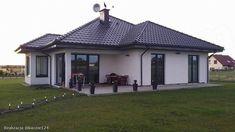 Projekt domu Hipokrates 113,85 m2 - koszt budowy 245 tys. zł - EXTRADOM Burbank Homes, Bungalow Style House, House Plans South Africa, House Design Pictures, Architectural House Plans, Family House Plans, Tuscan House, Modern Farmhouse Exterior, Dream House Exterior