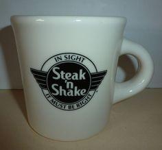 46c7512cd40 Vintage Steak N Shake Mug Cup Restaurant Ware Homer Laughlin USA #HomerLaughlin  Homer Laughlin,