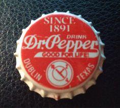 Pepper Dublin soda bottle cap by txsodajerks on Etsy Soda Bottles, Dr Pepper, Bottle Caps, Dublin, Stuffed Peppers, Drinks, Life, Vintage, Etsy