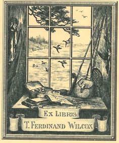 ≡ Bookplate Estate ≡ vintage ex libris labels︱artful book plates - T. Ferdinand Wilcox bookplate