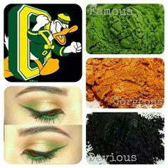 Oregon Ducks eyeshadow colors! Younique Cosmetics mineral eye pigments. Get yours by clicking the pic.❤️