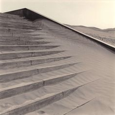 Cemetery Steps, photo by Lynn Davis, 2001, in Dunhuang, China.