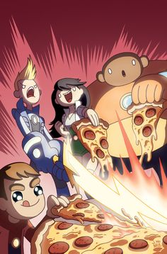 Bravest Warriors + Pizza + Convention Exclusive = by *jasonhohoho on deviantART